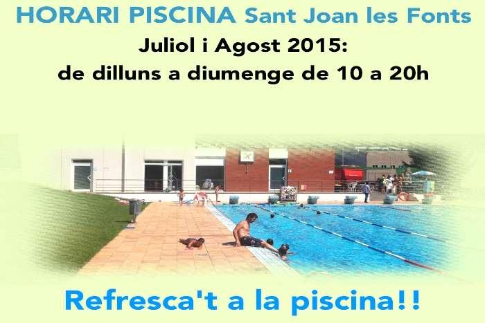 Bar la piscina web oficial de turismo sant joan les fonts for Piscinas naturales horta de sant joan
